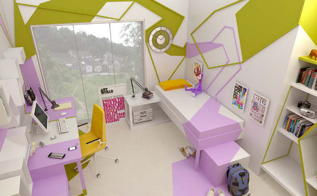 Innovative Cubist Room For Teenage Girl