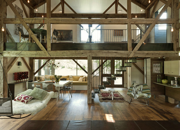 tiny attic storage idea - Country House Integrated Into the Landscape and Open to