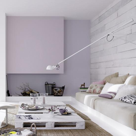 white and gray living room design