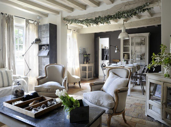 40 cozy living room decorating ideas decoholic for Deco shabby chic pas cher