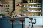 kitchen industrial interior design with cozy feeling