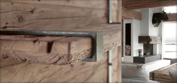 contemporary rustic chalet interior design  6