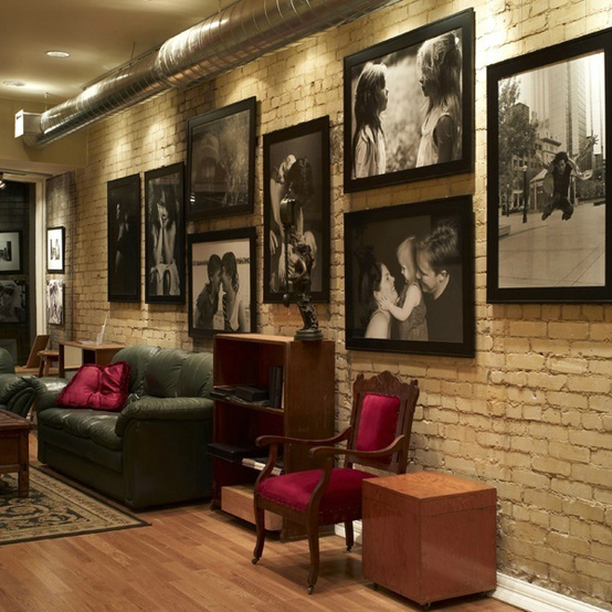 living room decorated with family photos