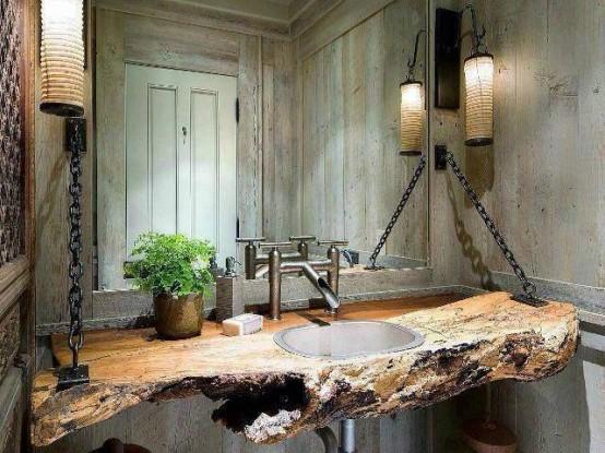 Rustic Bathroom Design 10