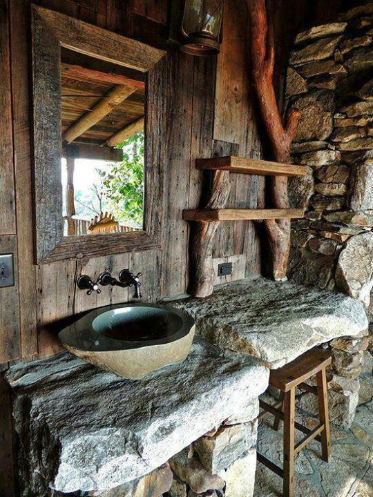 Rustic Bathroom Design 12