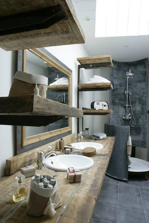 Rustic Bathroom Design 13