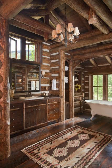Rustic Bathroom Design 19