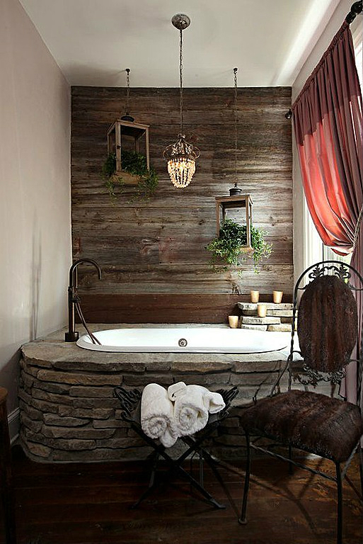 rustic bathroom design 23