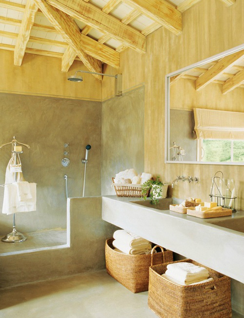 Rustic Bathroom Design 3