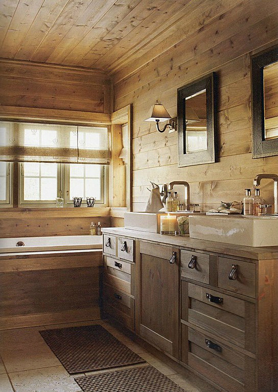 Wood Bathroom Decorating Ideas ~ Rustic bathroom designs decoholic