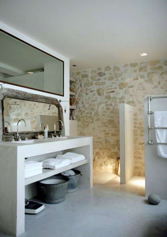 Rustic Bathroom Design 37
