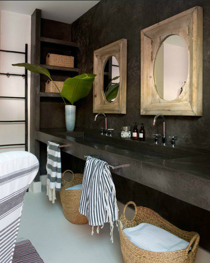 7 rustic bathroom inspired designs bath pro of central for Bathroom ideas rustic modern