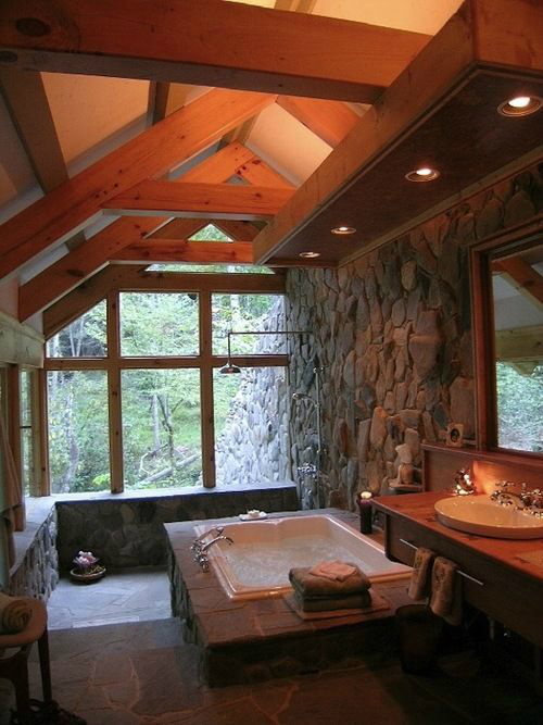 Rustic Bathroom Design 5