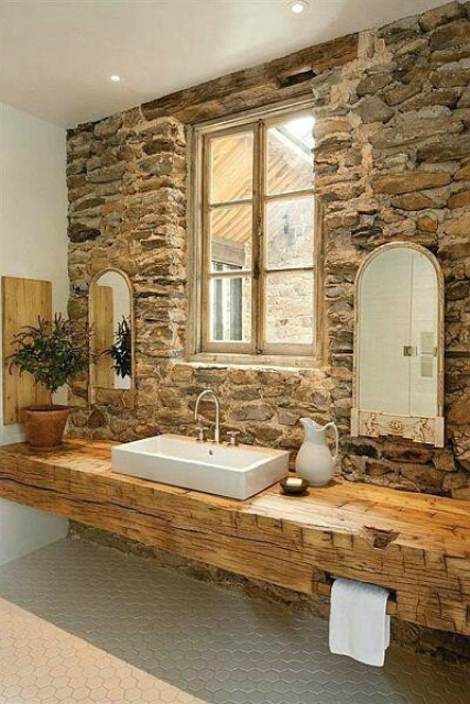 Rustic Bathroom Design 6