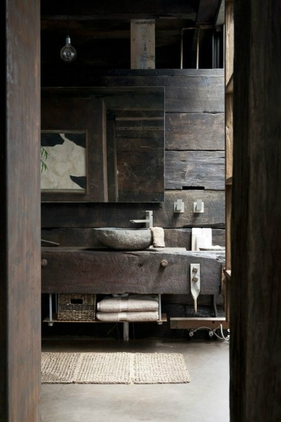 Rustic Bathroom Design 7