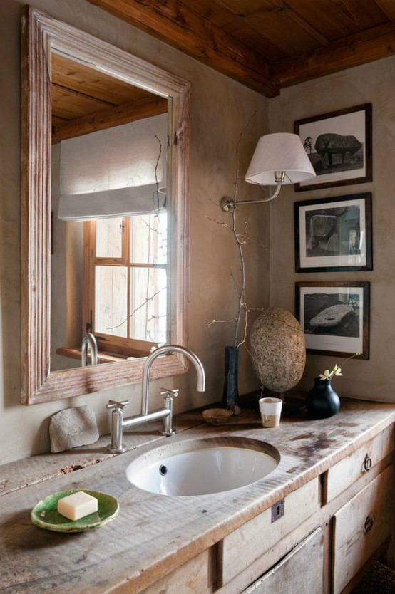 Rustic Bathroom Design 8