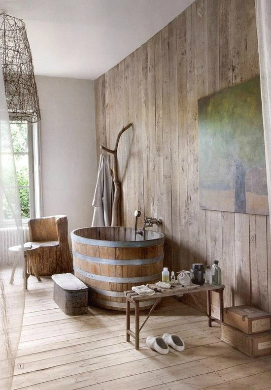 Rustic Bathroom Design 9