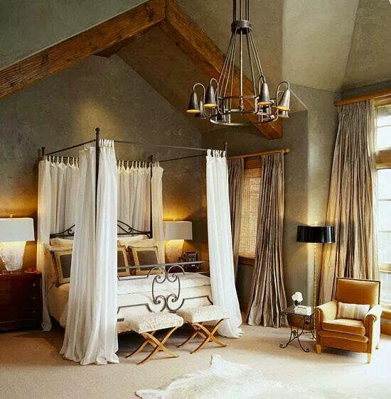 rustic bedroom decorating idea 14