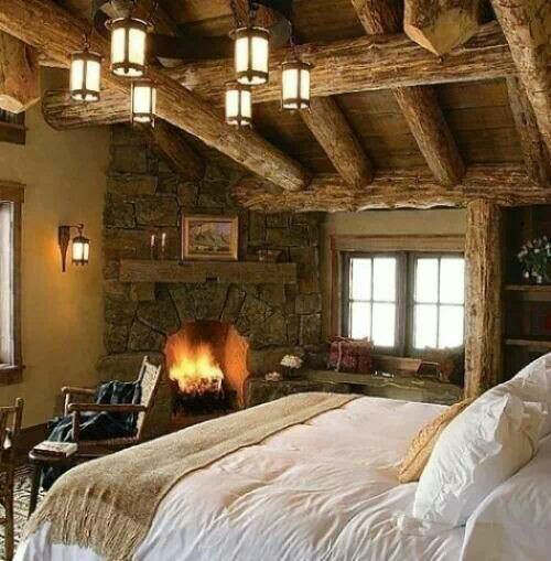 rustic bedroom decorating idea 3