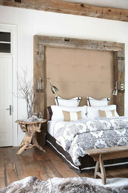 White Rustic Bedroom Ideas