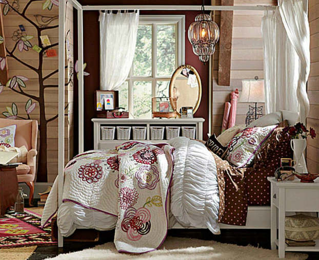rustic bedroom decorating idea 45