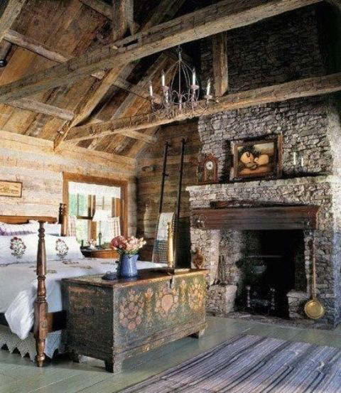 rustic bedroom decorating idea 5