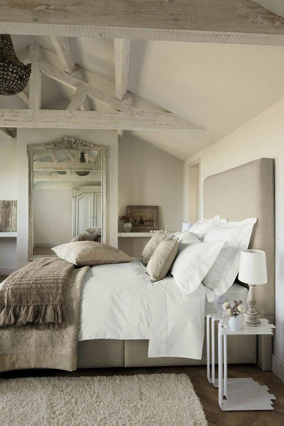 Charmant Rustic Bedroom Decorating Idea 50 ...