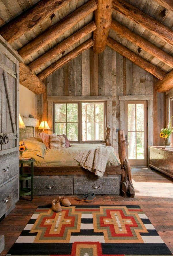Wonderful Rustic Bedroom Decorating Idea 7