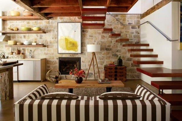 Rustic charm with contemporary touches decoholic for Decoracion del hogar barato