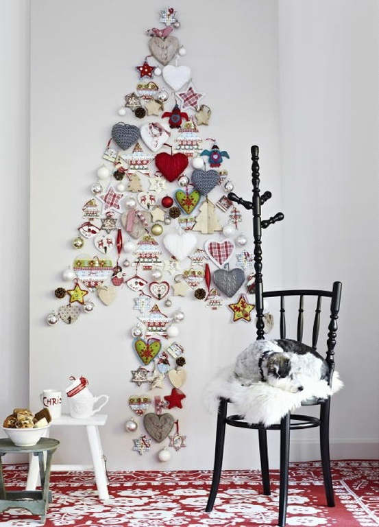 Christmas living room country decorating idea 23