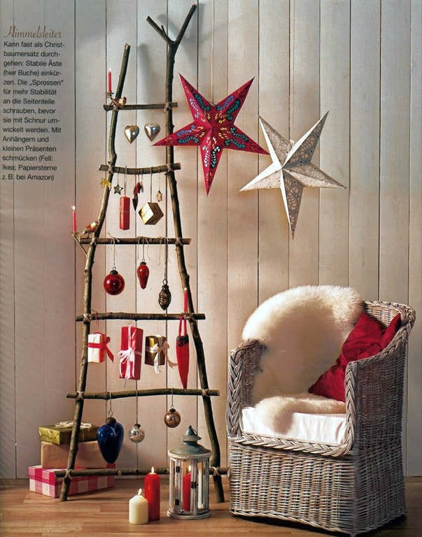 Christmas living room country decorating idea 25