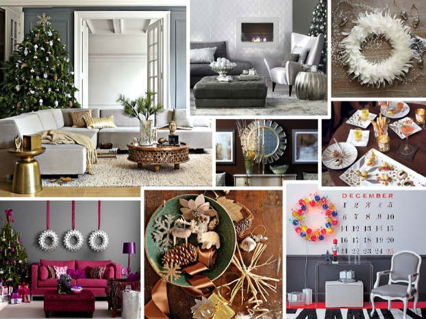 Christmas living room country decorating idea 26