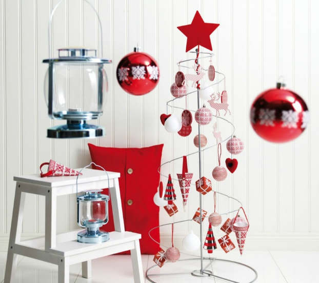 Christmas living room country decorating idea 27