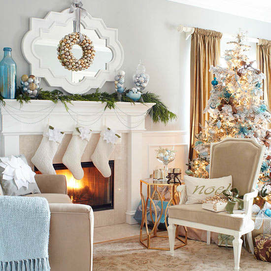 Decorating Idea For Living Room: 33 Best Christmas Country Living Room Decorating Ideas