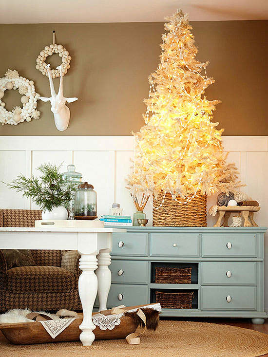 Christmas living room country decorating idea 29