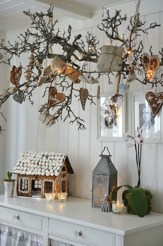 Christmas living room country decorating idea 30