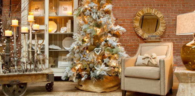 Christmas living room country decorating idea 31
