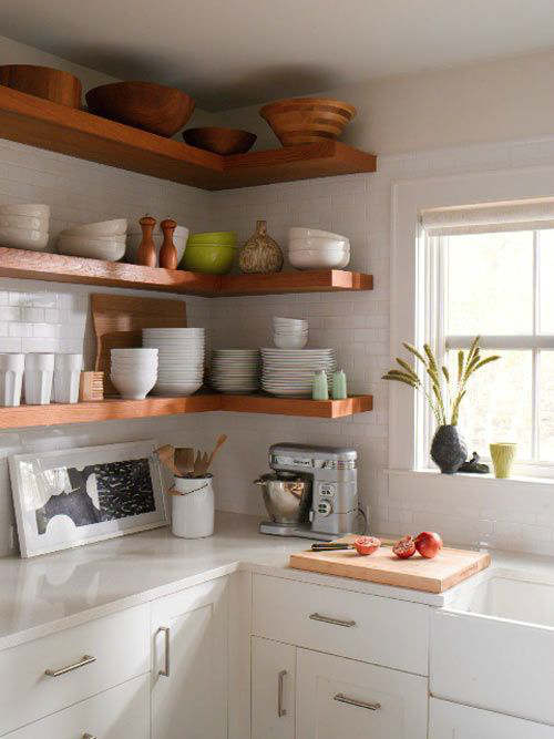 Stylish Kitchen With Open Shelving 13
