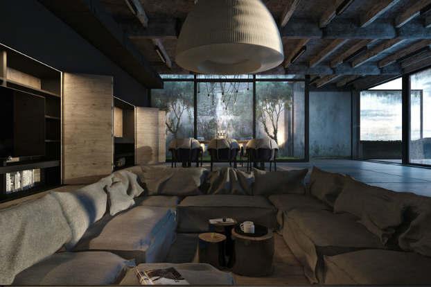 Cool Dramatic Interiors 5