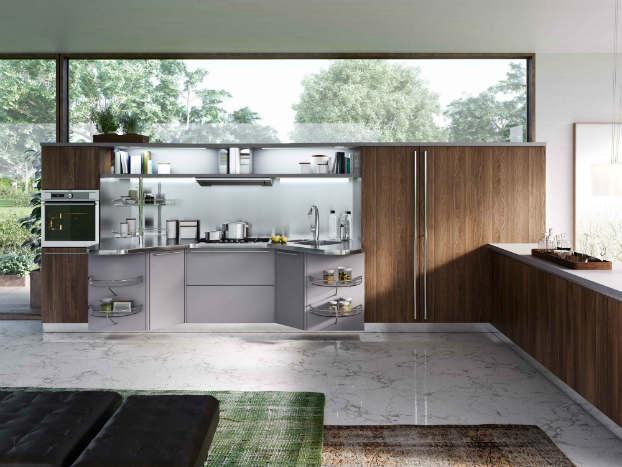 Skyline 2.0 New Kitchen Design by Snaidero walnut gray 3