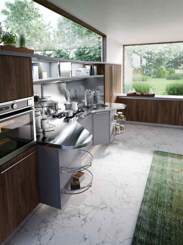 Skyline 2.0 New Kitchen Design by Snaidero walnut gray 2