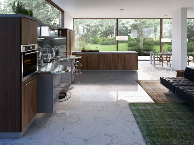 Skyline 2.0 New Kitchen Design by Snaidero walnut gray
