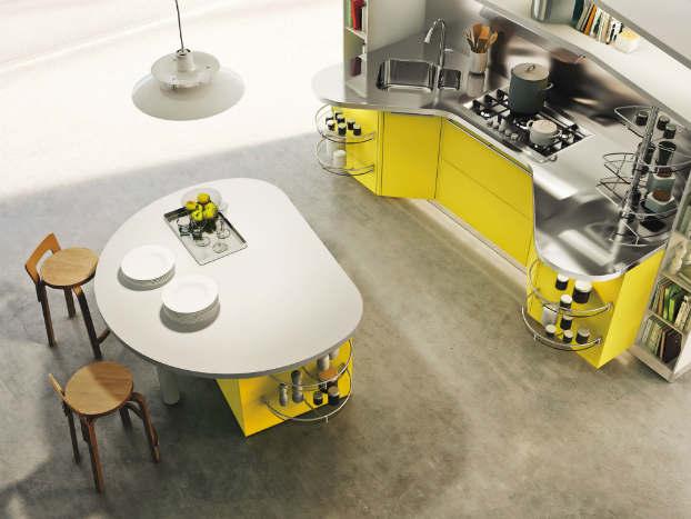 Skyline 2.0 New Kitchen Design by Snaidero yellow