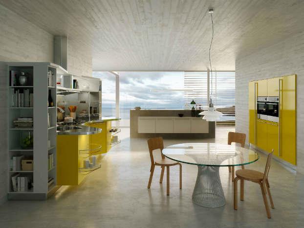 Skyline 2.0 New Kitchen Design by Snaidero yellow 3