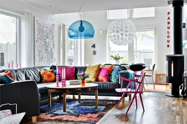 colorful lighting living room