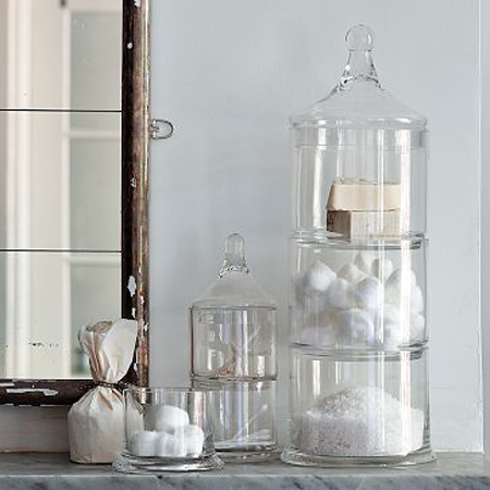 stacked apothecary jars 2