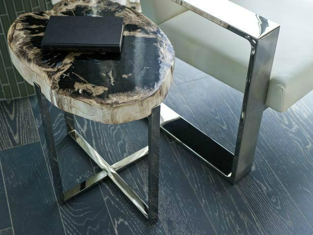 petrified wood side table home decor trends 2014
