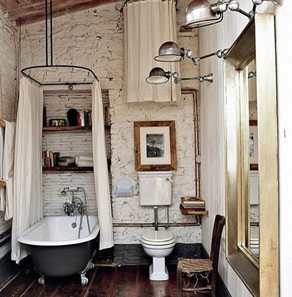 20 bathroom designs with vintage industrial charm decoholic for Vintage bathroom designs