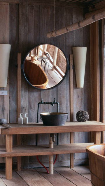 vintage industrial bathroom design 12