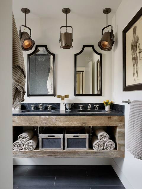 vintage industrial bathroom design 10